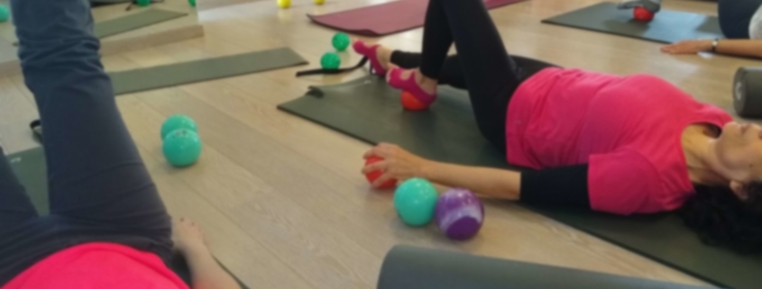 Pilates with small balls